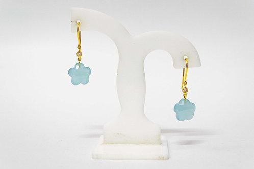 Floral Aquamarine Earrings