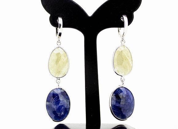 Sapphire Earring in 925 Sterling Silver