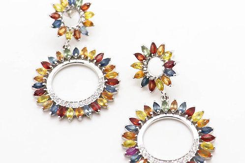 Dainty Sapphire Earrings