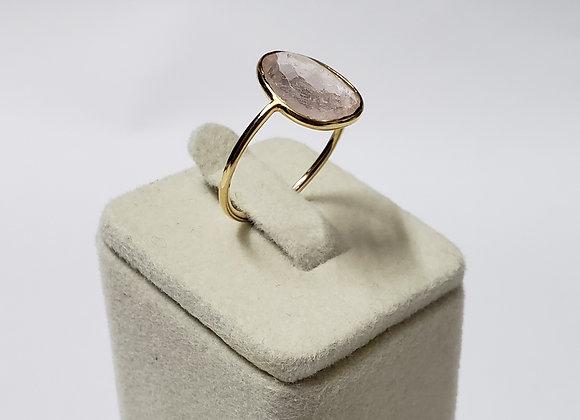 Rich Morganite Ring in 18K Gold