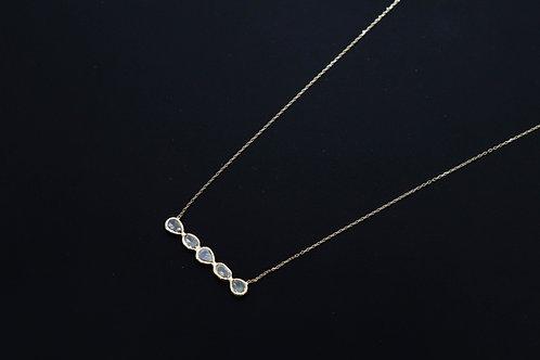 Diamond Polki slices cluster necklace