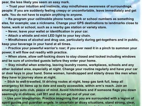 Stay Safe Tips for Survivors