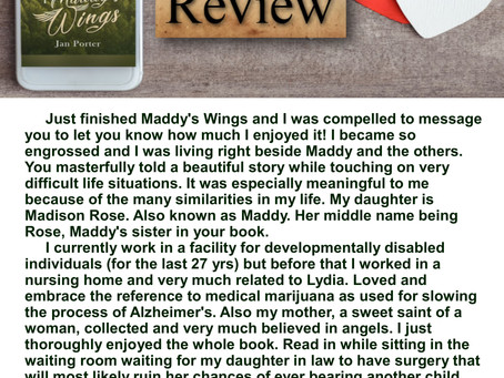 My favourite kind of #BookReview ~ Maddy's Wings