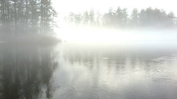foggy lake northern ontario