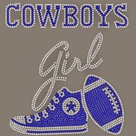 DALLAS COWBOYS RHINESTONE TEES