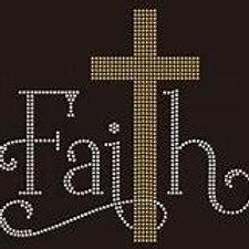 FAITH RHINESTONE GOLD CROSS