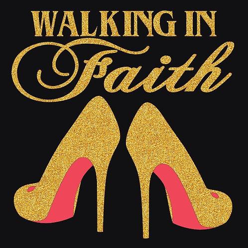 GLITTER WALKING IN FAITH