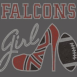 FALCONS GIRL HEEL WITH FOOTBALL T-SHIRT