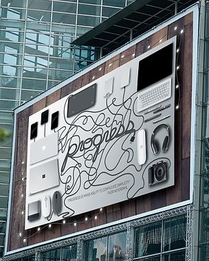 Progress Billboard Poster