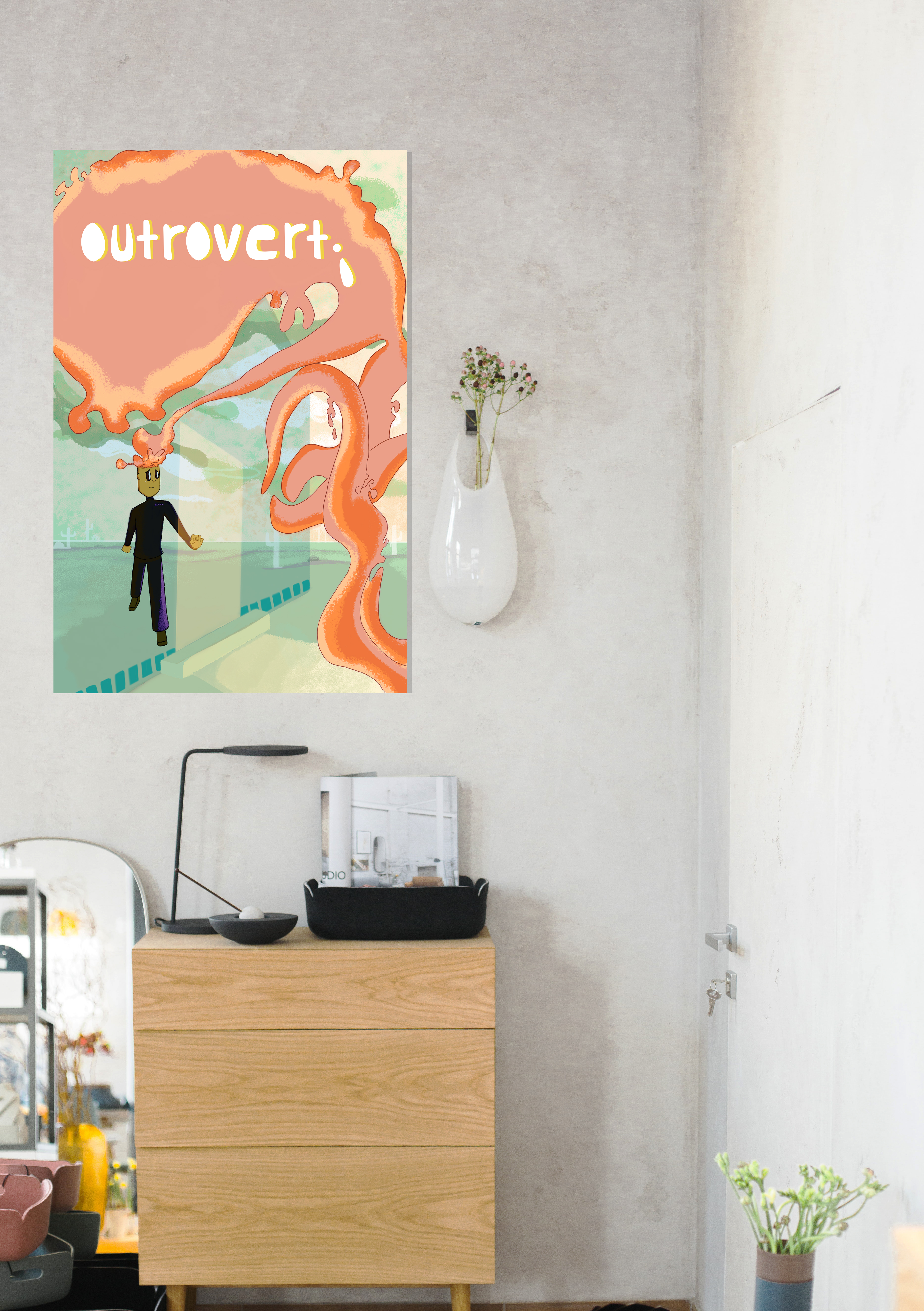 Outrovert Poster Mockup