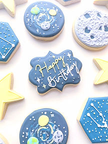 Outerspace Birthday Cookies