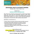 Behavioral Health Statewide Training