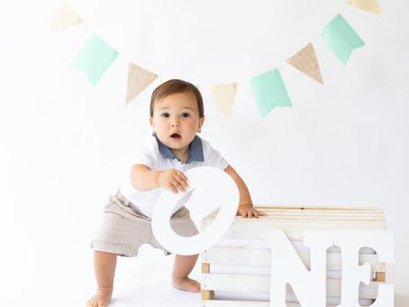 Baby Connor turns ONE! OC Milestone Shoot + Cake Smash