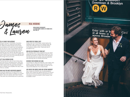 Betrothed Magazine Feature - Lauren and James