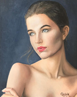 Retrato feminino, OST -2020 - 50x40cm.