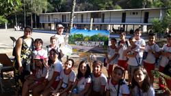 No Catetinho com alunos da Escola Classe 5 do Guará - 10/9/2019
