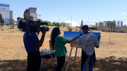 Entrevista à TV Brasília no atelier ao ar livre - 8/9/2019