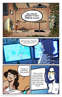 Video Game Comic Portal 2