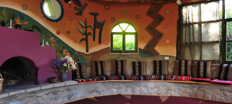 A communal space at Wilka T'ika