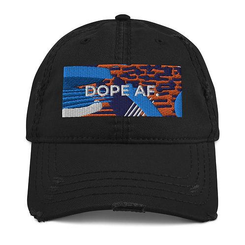 Detroit Dope AF. Distressed Dad Hat