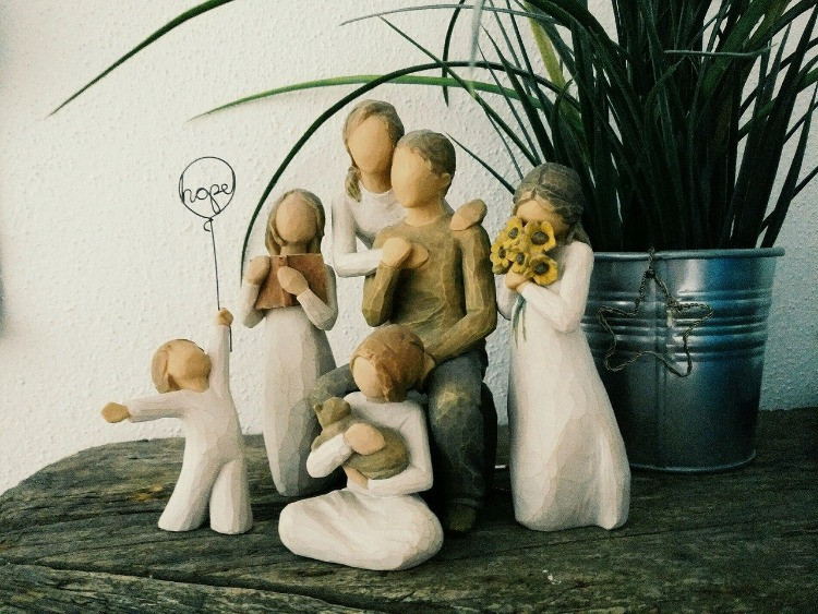 Famiglia in ceramica