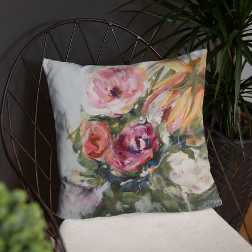 We are in this together pillow - Designer, floral accent pillow