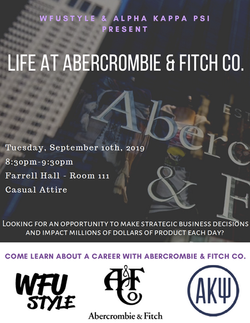 Abercrombie & Fitch Co. Networking Night Flyer