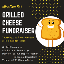 Flyer for Grilled Cheese Fundraiser for