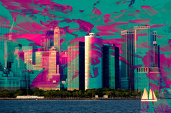 Psychedelic Cityscape