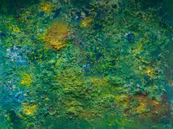 Abstract 15 Yellow, Green and Blue 35x48