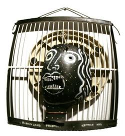 Konstantin Bokov Face in Cage
