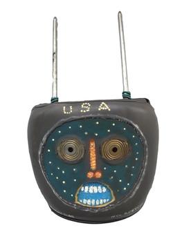 Headrest USA 2, 2009, 11 × 18 × 4 in