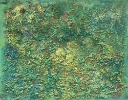 "Abstract #11 (Aqua, Green, Yellow & Blue) 48""x60"""