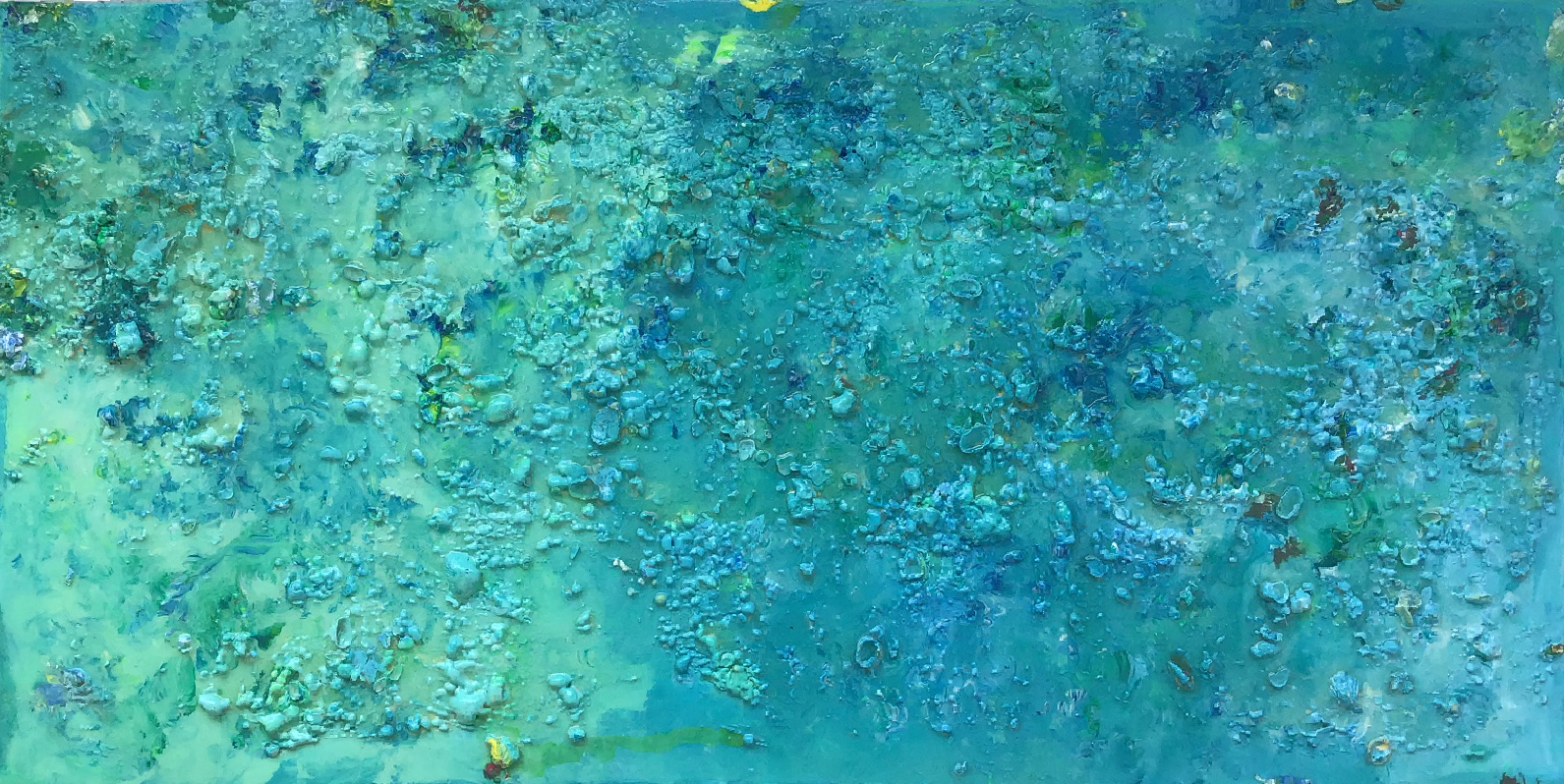 "Abstract #6 (Aqua & Blue, 3-D) 24""x40"""