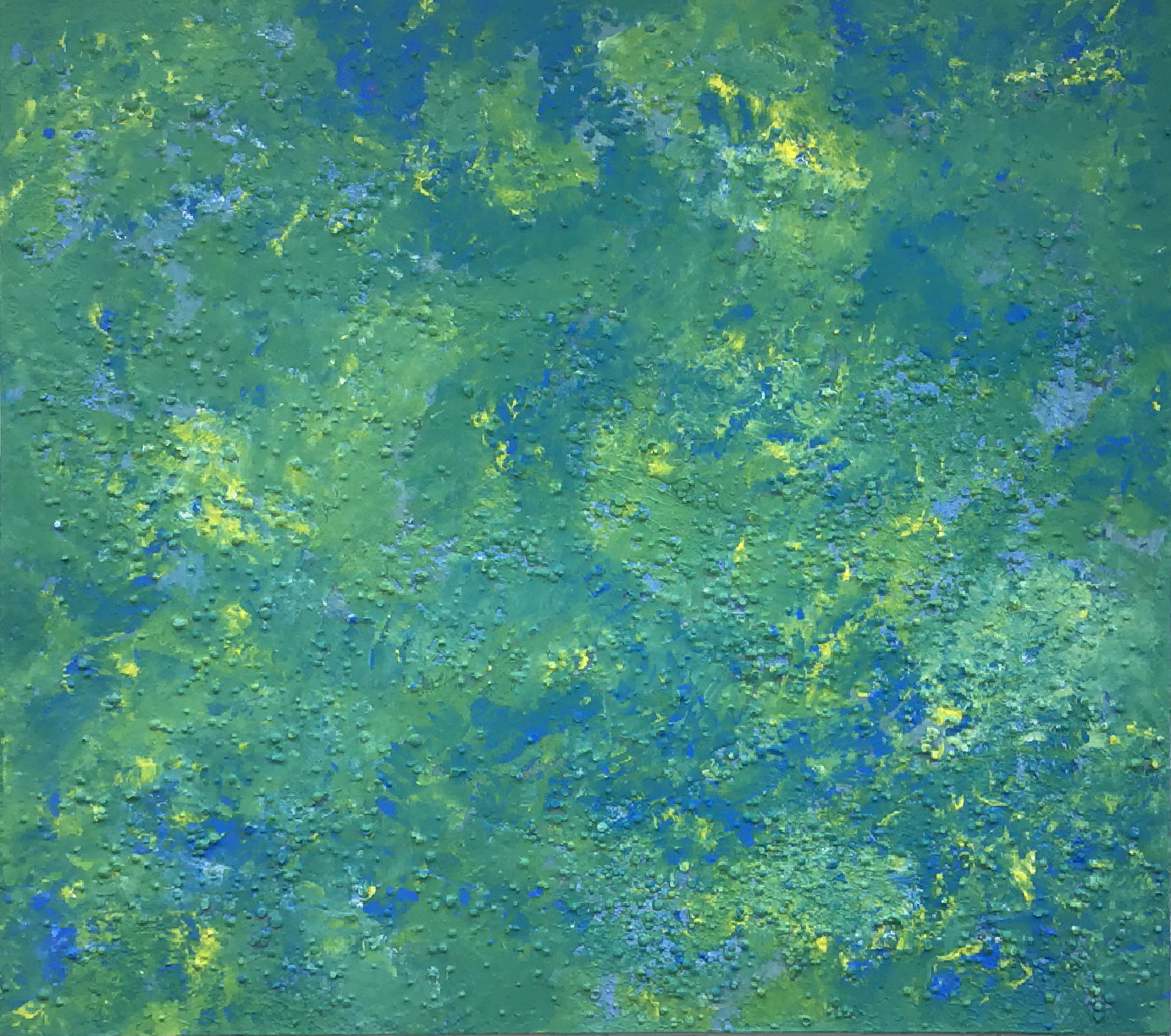 Abstract #12 (Yellow, Blue, Green & Aqua