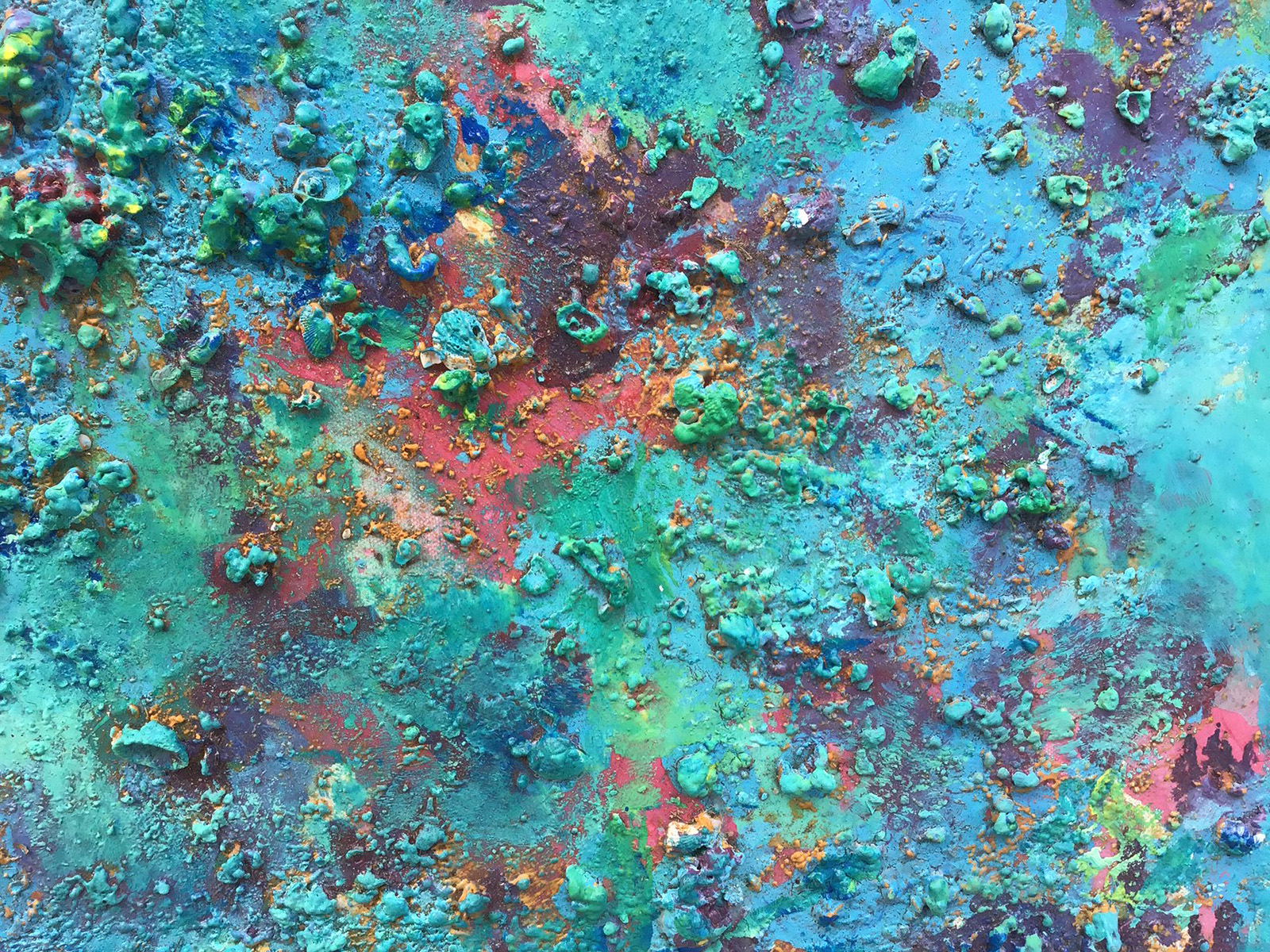 Abstract #14 Blue, Green and Red