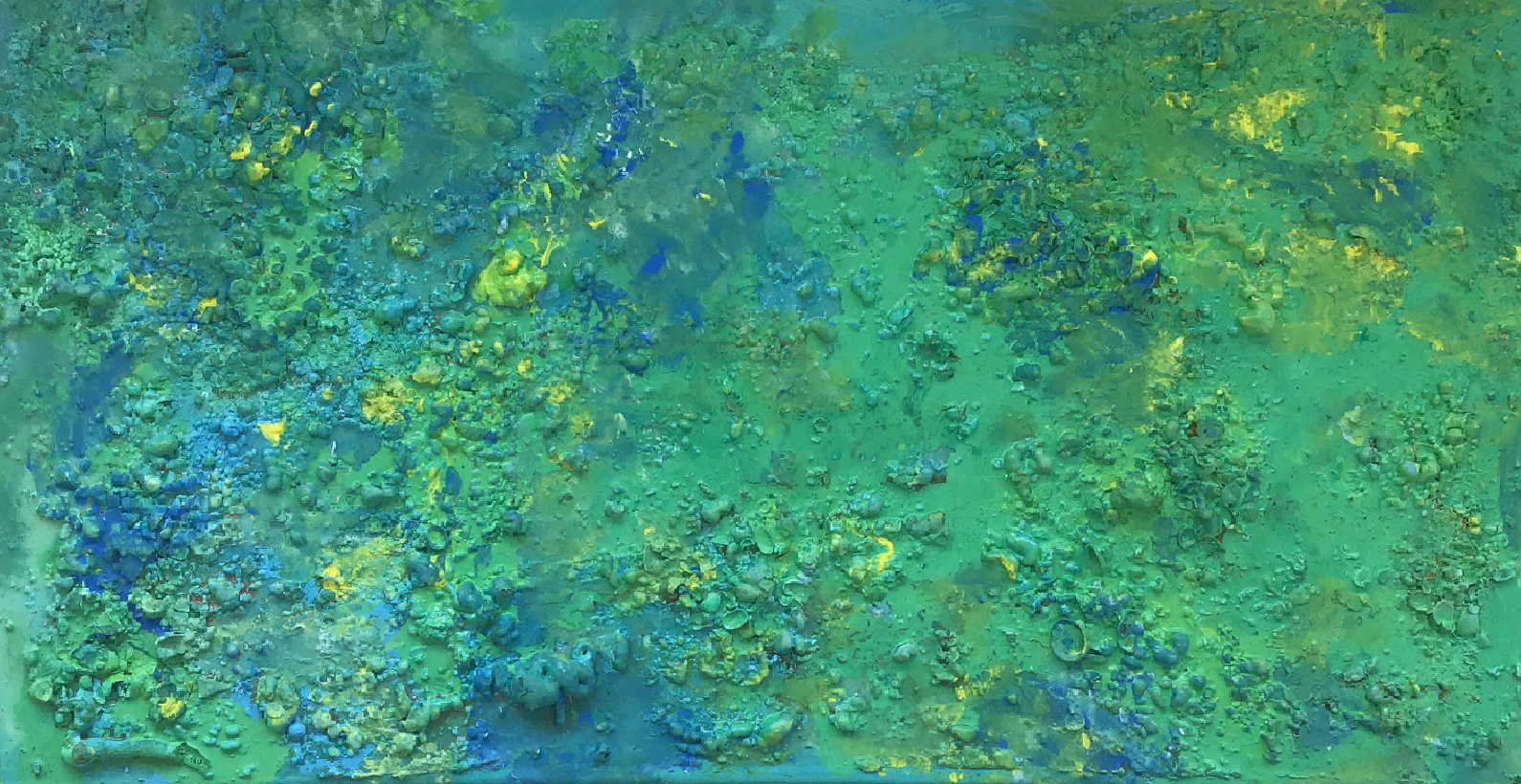 "Abstract #4 (Yellow, Blue & Green, 3-D) 24""x36"""