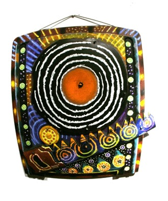 "Orange Turntable 2008, 21"" x 22"""