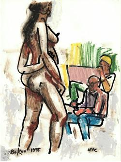 "Figure Drawing 1995, 8"" x 10"""