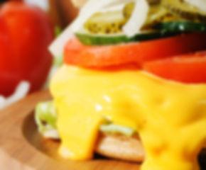 樂檸漢堡,起司流程河漢堡。