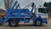 Skip Lorry With Company Colours And Skip