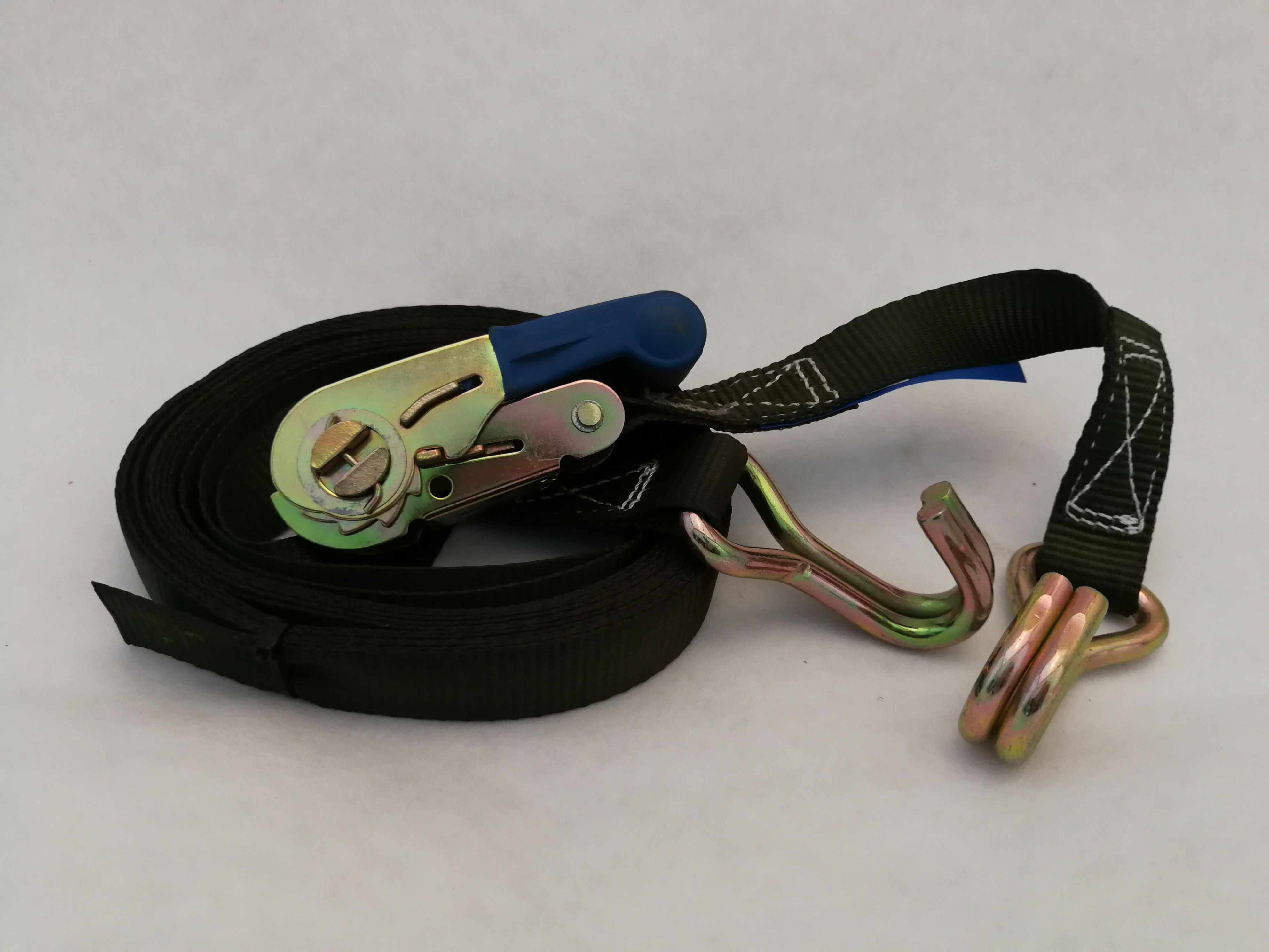 Ratchet Strap cw Closed Claw Hooks