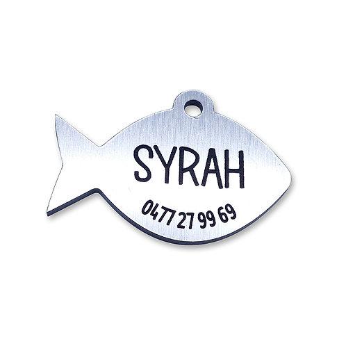 Cat Tag 'Fish-2' (personaliseerbaar)