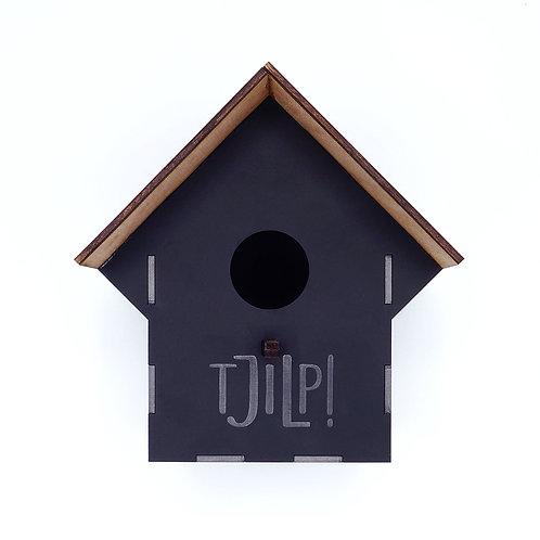 Vogelhuisje 'Tsjilp' - zwart