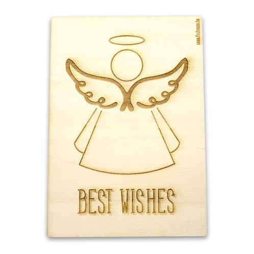 Kerstkaart 'Best Wishes'
