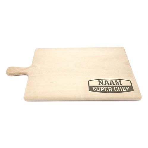 Gepersonaliseerde broodplank 'Super Chef'