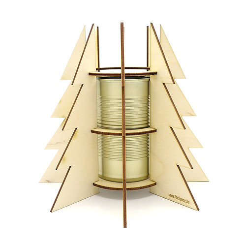 Lasercut Kerstvaasje 'Stylish Upcycled Gold'