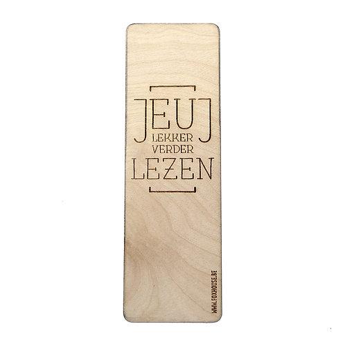 Lasercut Bladwijzer 'Jeuj'