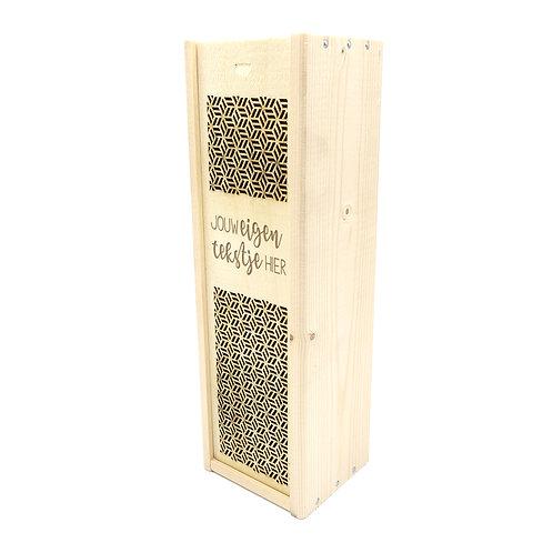 Wijnbox 1 fles-Eigen tekst