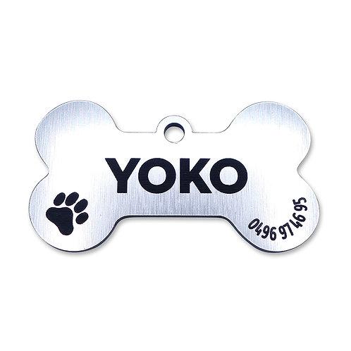 Dog Tag 'Bone' (personaliseerbaar)
